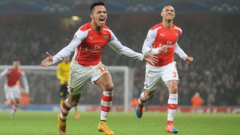 Arsenal 2-0 Dortmund: Pháo thủ giành vé vào vòng 1/8