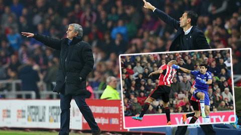 """HLV Mourinho không trách Sunderland chơi """"xe buýt 2 tầng"""""""