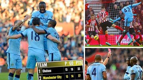 Man City phả hơi nóng vào gáy Chelsea