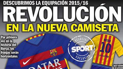 Rò rỉ mẫu áo đấu lạ mắt của Barca trong mùa giải tới