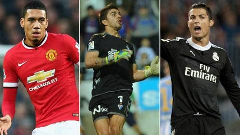 Đội hình xuất sắc nhất châu Âu tuần qua: Vinh danh Smalling và Ronaldo