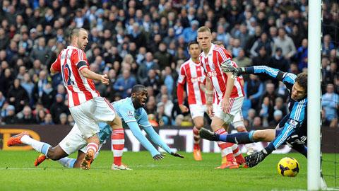 Thầy trò HLV Manuel Pellegrini không dễ có điểm khi phải làm khách của một Sunderland luôn chơi rất kiên cường trên sân nhà