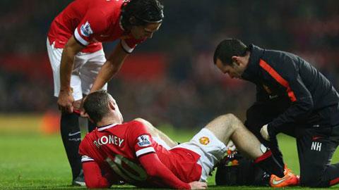 Rooney có thể lỡ đại chiến với Liverpool vì chấn thương