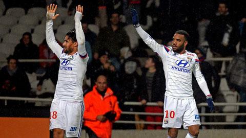 "Lyon 2-1 Reims: ""Người hùng"" Lacazette"