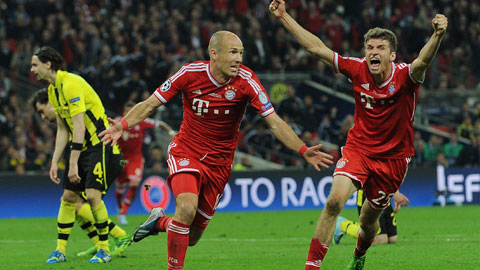 Robben và Mueller nguy hiểm nhất Bundesliga 2014/15