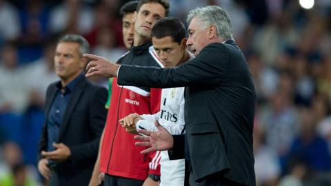 Ancelotti bảo đảm cho Chicharito ở lại Real tới hết mùa