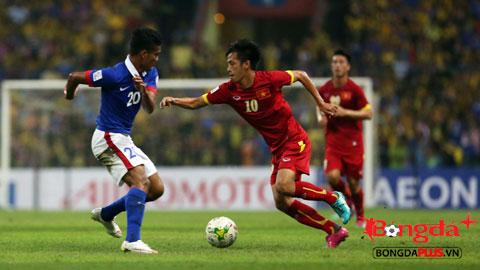 Văn Quyết đã có bàn thắng cho riêng mình vào lưới Malaysia