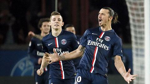 PSG 2-1 Nantes: Ibra lập cú đúp, PSG tạm chiếm ngôi đầu