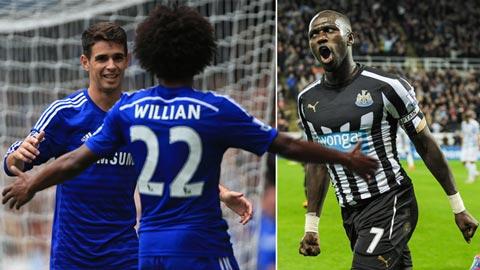 Chelsea thí Oscar hoặc Willian để mua sao Newcastle?