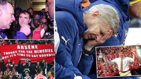 """CĐV Arsenal """"chặn đường"""" chửi rủa HLV Wenger sau thất bại của Arsenal"""