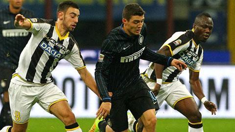 Inter Milan 1-2 Udinese: Sự trả thù ngọt ngào của Stramaccioni