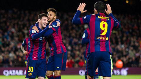 """""""Cây đinh ba"""" của Barca ngày càng hòa hợp"""