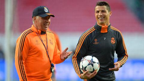 Ancelotti không để Ronaldo nghỉ ngơi