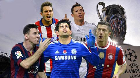 Điểm mặt các ƯCV vô địch Champions League 2014/15