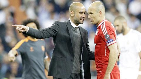 HLV Guardiola lại hy vọng Robben sẽ mang đến chiến thắng cho Bayern