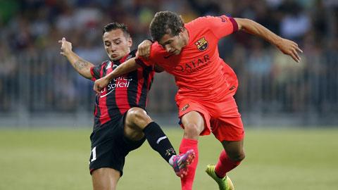 Sergi Roberto (phải) và đồng đội sẽ lại dễ dàng đánh bại Huesca