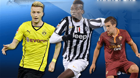 Marco Reus, Paul Pogba và Kevin Strootman (trừ trái qua phải) có thể sắp sang Anh chơi bóng