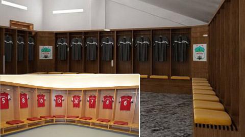HA.GL sẽ có phòng thay đồ hiện đại như Arsenal