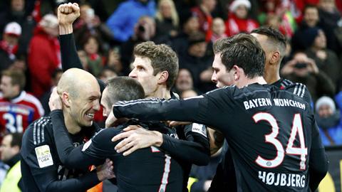 Niềm vui chiến thắng của Bayern