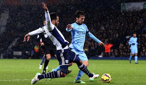 """Silva là """"sợi chỉ đỏ"""" trên mặt trận tấn công của Man xanh"""