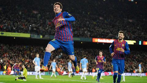 Messi còn cách 108 bàn so với  chân sút ghi bàn nhiều nhất 5 giải VĐQG hàng đầu châu Âu