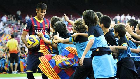 Năm 2014, Neymar đã hòa nhập tốt hơn với Barca