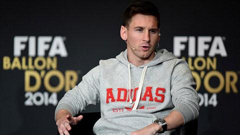 Năm 2014, Messi không có được danh hiệu nào cùng Barca