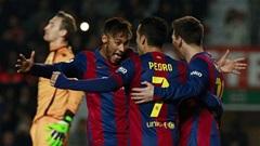 Elche 0-6 Barcelona: Song sát Messi, Neymar rực sáng