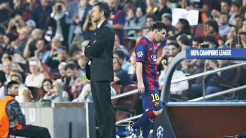 Messi và Enrique lại cãi vã trên sân