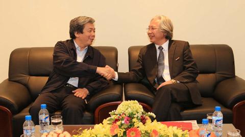 Lãnh đạo Hội nhà báo Việt Nam thăm và làm việc với báo Bóng đá