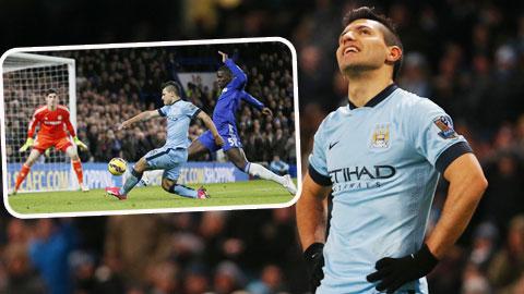 Trước Chelsea, Aguero vẫn không thể ghi bàn dù được trao rất nhiều cơ hội