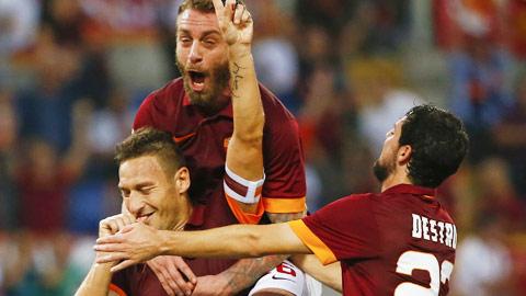 Roma từng thắng 6, hòa 1 trong 7 trận sân nhà gần nhất tại Coppa Italia