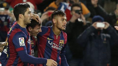 Sự thăng hoa của Messi và đồng đội đang giúp Barca đẩy lùi khủng hoảng