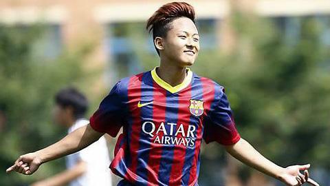 Lee Seung-Woo trong màu áo Barca
