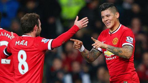 Mata và Rojo cùng lập công giúp M.U có vé đi tiếp