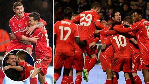 Liverpool đã có thắng lợi nghẹt thở