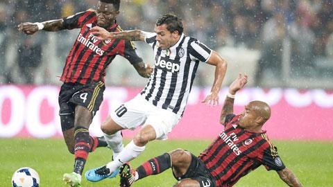 Với tương quan hiện nay, Juve (giữa) đủ sức vùi dập Milan