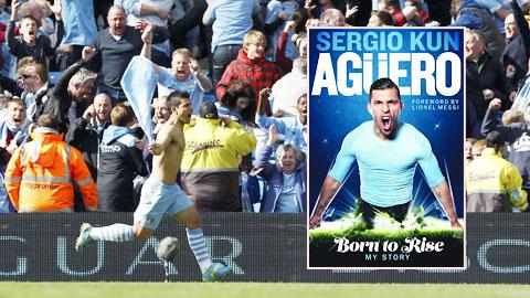 Khoảnh khắc ăn mừng lịch sử của Aguero khi anh ghi bàn ấn định tỷ số 3-2 cho Man City trước QPR để mang về chức vô địch Premier League 2011/12 cho nửa xanh thành Manchester