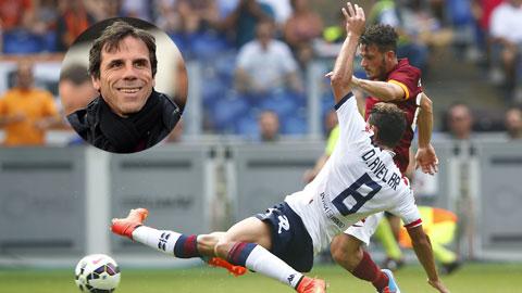 Đang hồi sinh dưới thời Zola (ảnh nhỏ), Avelar và đồng đội đủ sức đánh bại Roma