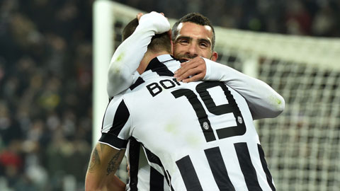 Tevez và Bonucci cùng tỏa sáng ở trận đấu đêm qua
