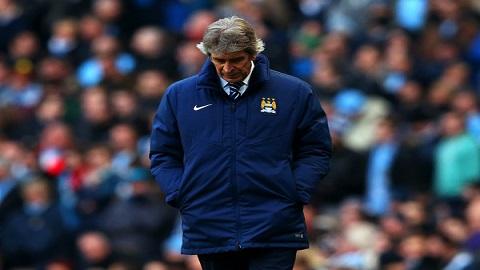 Pellegrini thất vọng vì Man City chỉ nhận một kết quả hòa trước Hull City