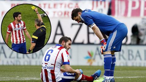 Vòng tới, Atletico sẽ mất Koke vì chấn thương và Garcia (ảnh nhỏ) vì thẻ phạt