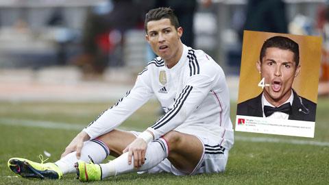 Hình ảnh chế về Ronaldo (ảnh nhỏ) sau trận Real thua Atletico 0-4