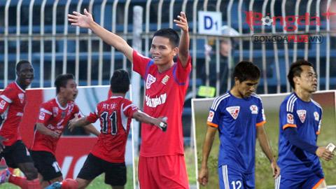 Vòng 7 V.League chứng kiến cú ngã ngựa của 2 đội đầu bảng