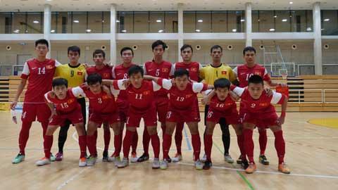 ĐT futsal Việt Nam tại Croatai. Ảnh: Tú Trần