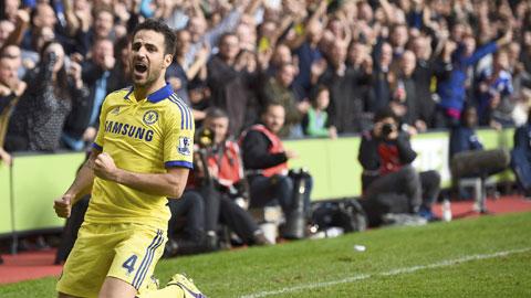 Fabregas giúp lối chơi của Chelsea vừa hiệu quả vừa mềm mại