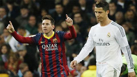 Messi đang dần bắt kịp Ronaldo