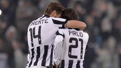 Llorente và Pirlo giúp Juve củng cố vị trí đầu bảng