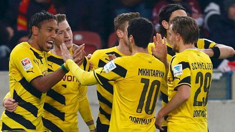 Dortmund xuất sắc thắng trận thứ 3 liên tiếp để lên vị trí thứ 10 trên BXH Bundesliga
