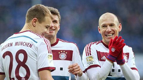 Robben và các đồng đội đã có chiến thắng tưng bừng trước Paderborn